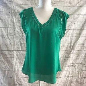 41 hawthorn emerald green blouse top
